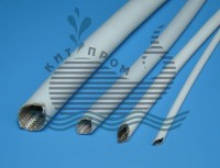 Silicone sleeving with glass fibre rope
